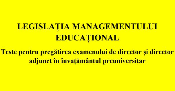 Legislatia managementului educational